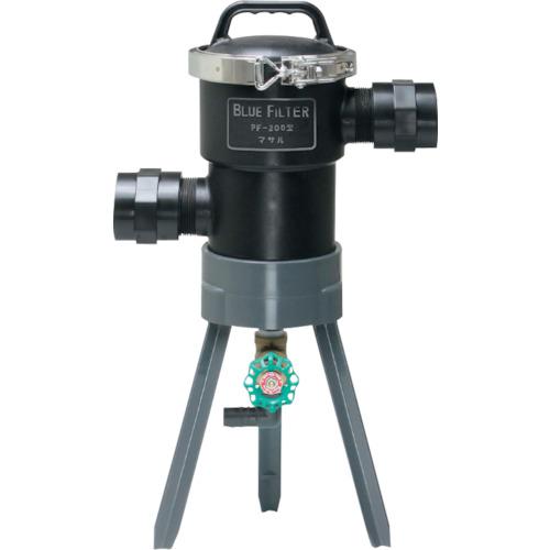 ■マサル ブルーフィルター PF-200型 低圧用 50Φ 120メッシュ  〔品番:M4304〕[TR-1144867]
