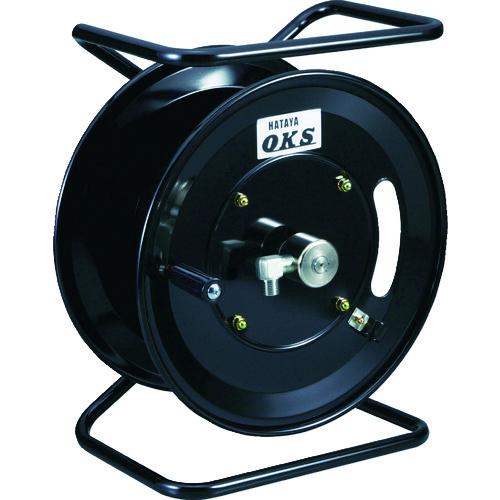 ■OKS 高圧ホースリール 耐圧20.5MPA 手動巻移動スタンド型(ホースなし)  〔品番:HSP-12MS〕[TR-1145342]