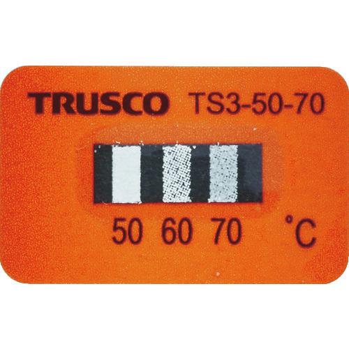 ■TRUSCO 温度シール3点表示不可逆性50℃~70℃(40枚入り)  〔品番:TS3-50-70〕[TR-1145419]