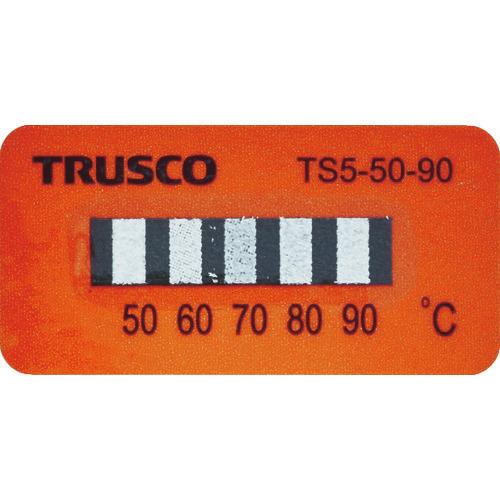 ■TRUSCO 温度シール5点表示不可逆性50℃~90℃(40枚入り)  〔品番:TS5-50-90〕[TR-1145422]