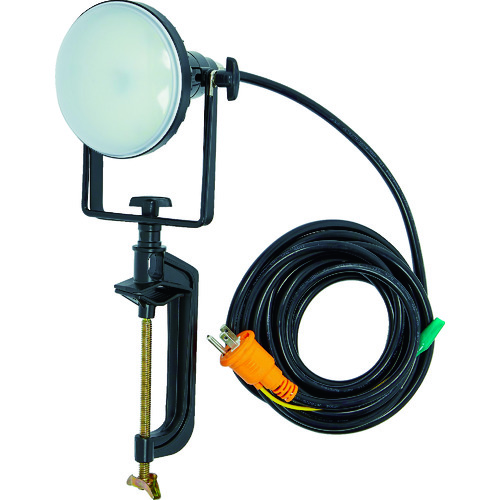 ■TRUSCO LED投光器 DELKURO バイスタイプ 20W 10M アース付 2芯3芯両用タイプ  〔品番:RTLE-210EP-V〕[TR-1145822]