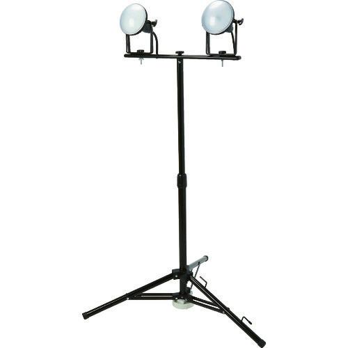 ■TRUSCO LED投光器 DELKURO 三脚タイプ 2灯 20W 5M アース付 2芯3芯両用タイプ  〔品番:RTLE-205EP-SK2〕[TR-1145847]