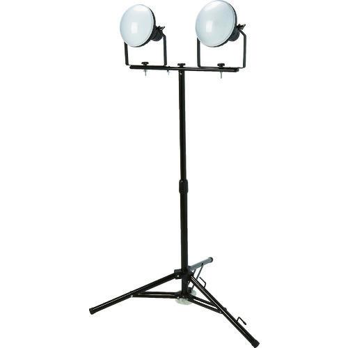 ■TRUSCO LED投光器 DELKURO 三脚タイプ 2灯 50W 10M アース付 2芯3芯両用タイプ  〔品番:RTLE-510EP-SK2〕[TR-1145850]