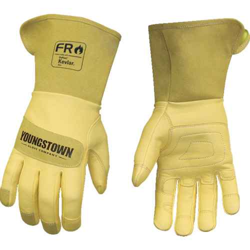 ■YOUNGST 革手袋 FRレザー ケブラー(R) ワイドカフ M  〔品番:12-3275-60-M〕[TR-1146954]