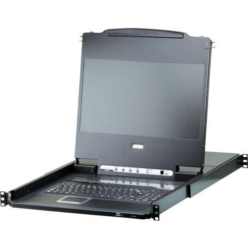 ■ATEN KVMドロワー  8ポート/USB/DVI/ロングレール/フルHDワイド対応  〔品番:CL6708MWJJL〕[TR-1152142]
