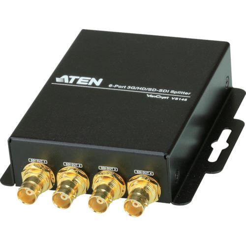 ■ATEN ビデオ分配器 3G/HD/SD-SDI / 1入力 / 6出力〔品番:VS146〕[TR-1152290]【個人宅配送不可】