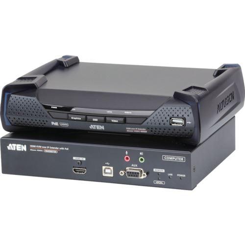 ■ATEN IP-KVMエクステンダー  トランスミッター&レシーバー/HDMI/4K/POE対応/シングルディスプレイ  〔品番:KE8952〕[TR-1152425]