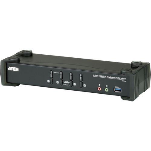 ■ATEN KVMP[[TM上]]スイッチ 4ポート/USB/DISPLAYPORT/ DCI 4K対応/USB 3.0ハブ搭載  〔品番:CS1924〕[TR-1152963]