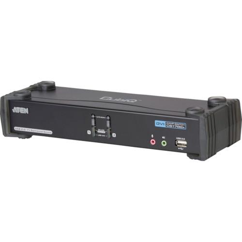 ■ATEN KVMPスイッチ  2ポート / DVI / デュアルリンク / USB2.0ハブ搭載  〔品番:CS1782A〕[TR-1152973]
