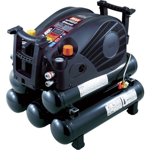 ■MAX 45気圧スーパーエアコンプレッサ 高圧・常圧専用 ブラック 27Lタンク〔品番:AK-HL1270E2BLACK(27L)〕[TR-1154246]【大型・重量物・個人宅配送不可】