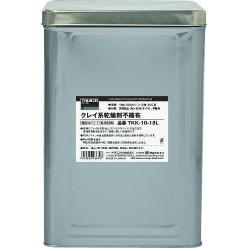 ■TRUSCO クレイ系乾燥剤不織布 30G 300個入 1斗缶〔品番:TKK-30-18L〕[TR-1159809]【個人宅配送不可】