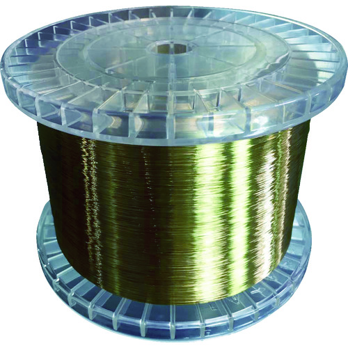 ■TRUSCO 黄銅ワイヤー(エコノミータイプ) 0.25 5KG巻  〔品番:EWT025-5〕[TR-1164540]