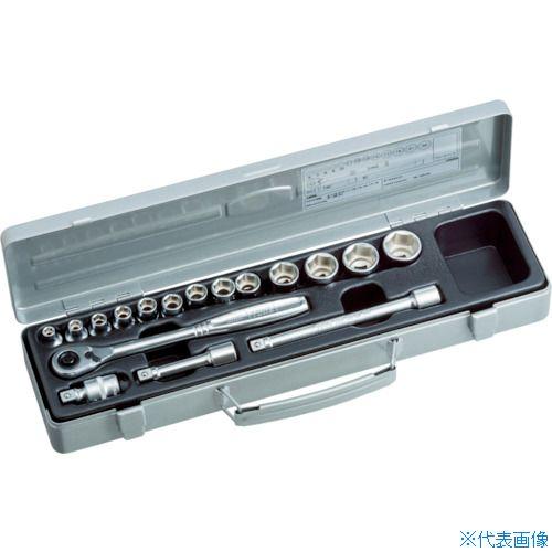 ■TONE ソケットレンチセット 差込角9.5mm 17点セット 〔品番:1560MS〕[TR-1165500]