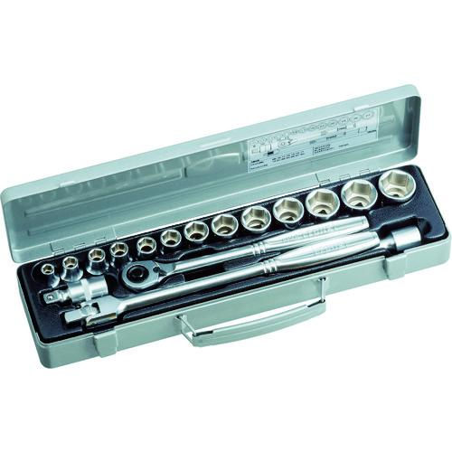 ■TONE ソケットレンチセット 差込角12.7mm 17点セット 〔品番:750MS〕[TR-1165798]