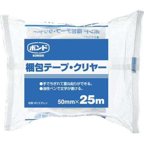 ■コニシ ボンド梱包テープ 50×25(シュリンク)透明#67949 透明《40個入》〔品番:BKT50〕[TR-1173908]