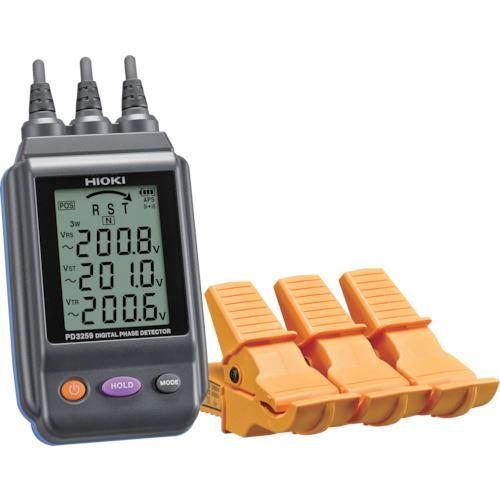■HIOKI 電圧計付検相器 PD3259 書類3点付〔品番:PD3259SYORUI3TENTUKI〕[TR-1175387]