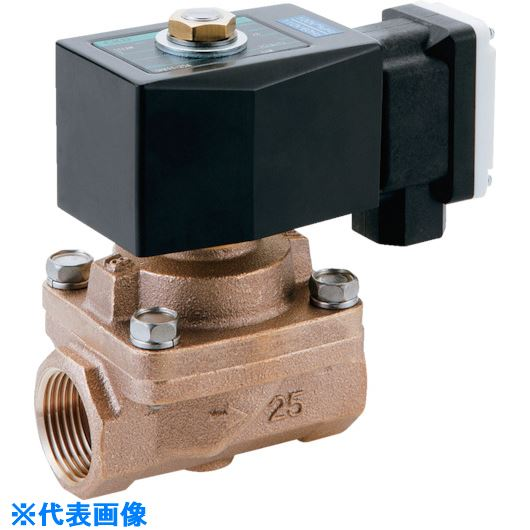 ■CKD 蒸気用パイロットキック式2ポート電磁弁〔品番:SPK11-15A-K4M-AC200V〕[TR-1188173]