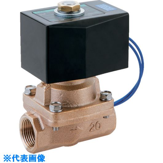 ■CKD 蒸気用パイロットキック式2ポート電磁弁〔品番:SPK11-25A-K4A-AC200V〕[TR-1193555]