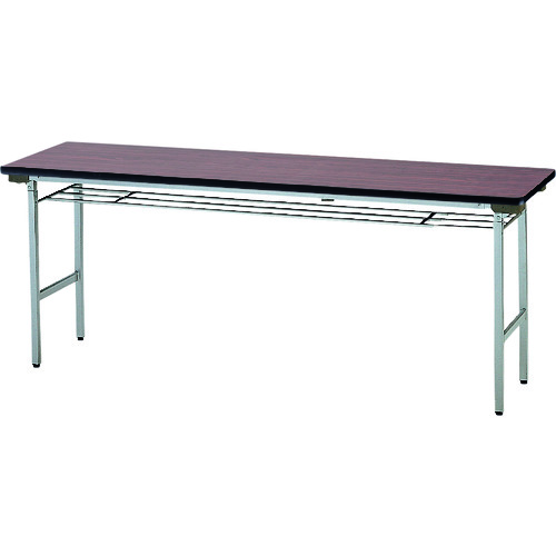 ■TOKIO 折りたたみテーブル 棚付 1500×600mm ローズ〔品番:TF-1560〕[TR-1200995 ]【送料別途お見積り】
