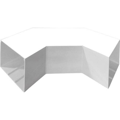 ■マサル エムケーダクト付属品 平面大マガリ 7号150型 ホワイト  〔品番:MDLM7152〕[TR-1201920]