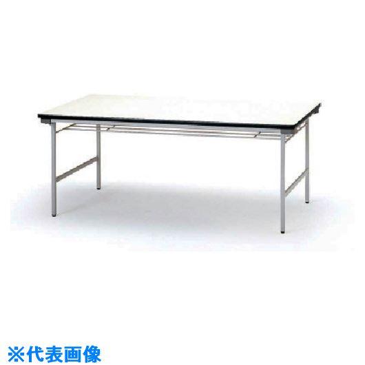 ■TOKIO 折りたたみテーブル 棚付 1500×600mm アイボリー〔品番:TF-1560〕[TR-1202625 ]【送料別途お見積り】