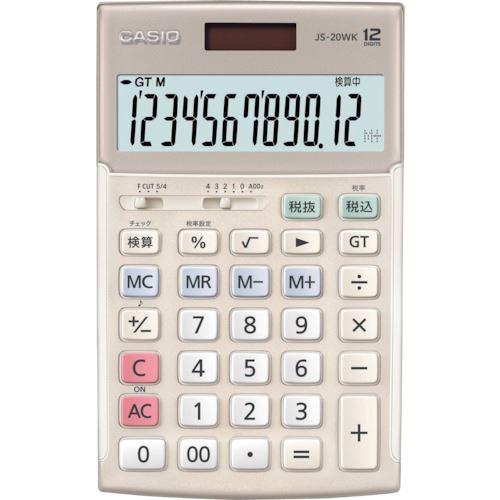 ■カシオ 検算電卓(ジャストタイプ)〔品番:JS-20WKGD〕[TR-1203732]