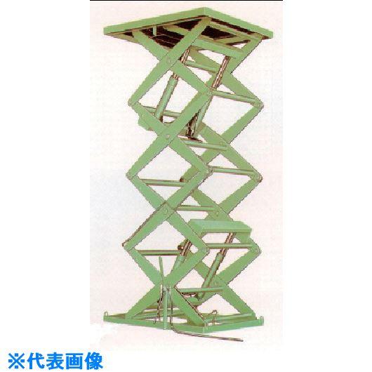 ■河原 4段式リフトテーブル KTLシリーズ〔品番:KTL-1020-50-1〕[TR-1207332]【個人宅配送不可】