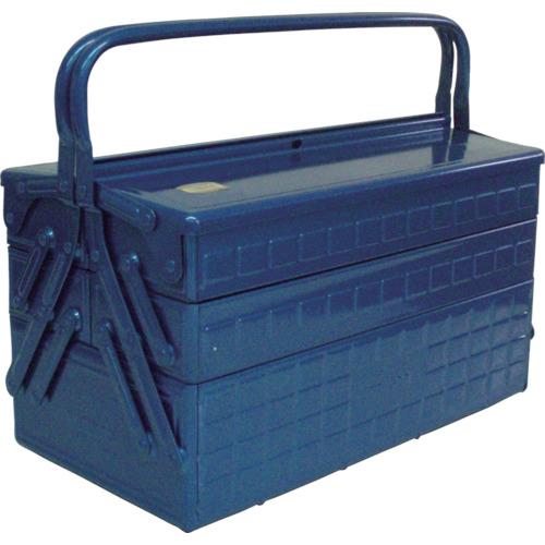 ■TRUSCO 3段式工具箱 412X220X343 ブルー  〔品番:GT-410-B〕[TR-1214187]