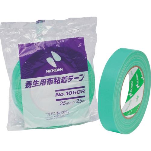 ■ニチバン 養生用布粘着テープ 106GR 25MM×25M 60巻入 〔品番:NO.106GR-25〕[TR-1218482×60]