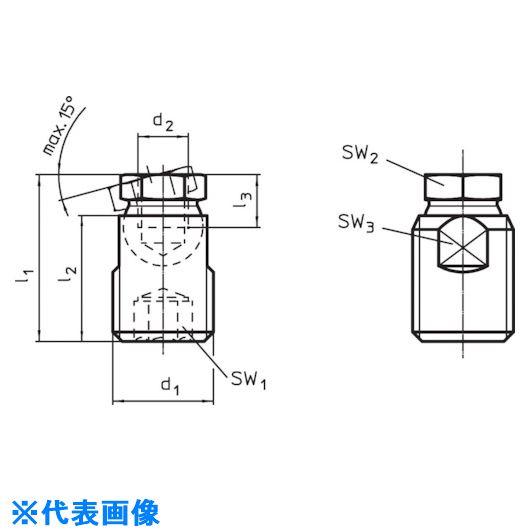 ■HALDER ハンドクランク DIN469ストレート 形状F〔品番:24330.0161〕[TR-1219606]