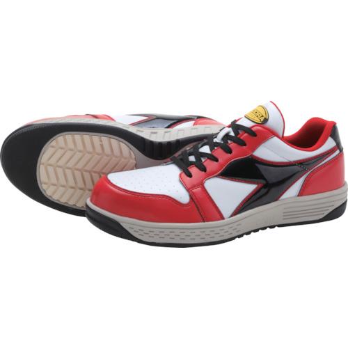 ■ディアドラ 安全作業靴 グレーブ  レッド/ホワイト/ブラック 25.0CM〔品番:GR312-250〕[TR-1228287]
