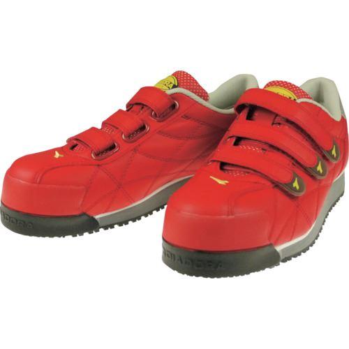 ■ディアドラ DIADORA 安全作業靴 アイビス 赤 25.0CM  〔品番:IB33250〕[TR-1229950]