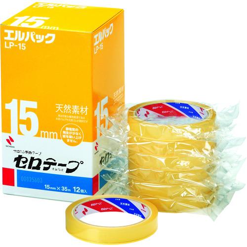 ■ニチバン セロテープ 大巻 エルパックLP-15 15MMX35M(12巻入)バイオマスマーク認定製品 10箱入 〔品番:LP-15〕[TR-1240168×10]