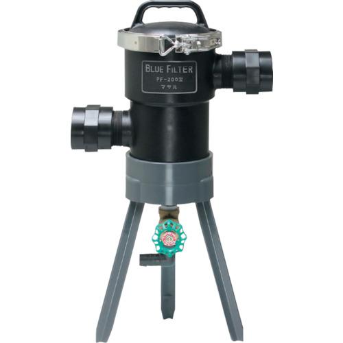 ■マサル ブルーフィルター PF-200型 低圧用 40Φ 50メッシュ  〔品番:M4305〕[TR-1240700]