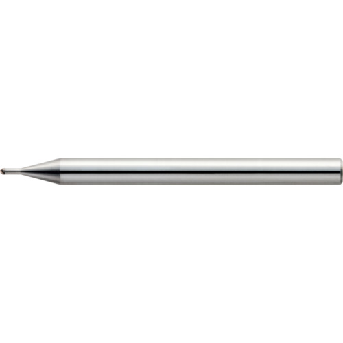 ■ユニオンツール 2枚刃超仕上げ加工用ロングネックボール R0.5×有効長1.5×刃長0.7×首径0.98〔品番:CBN-LBSF2010-015〕[TR-1240748]