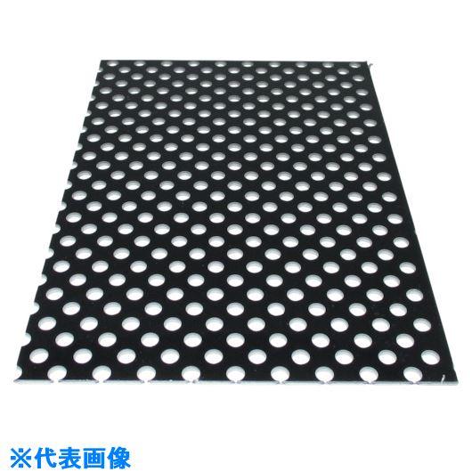 ■アルインコ アルミ複合板パンチ 3X2440X1220 ブラック〔品番:CG124P11〕[TR-1242085]【大型・重量物・個人宅配送不可】