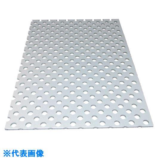 ■アルインコ アルミ複合板パンチ 3X2000X1000 シルバー〔品番:CG120P-21〕[TR-1243631]【大型・重量物・個人宅配送不可】