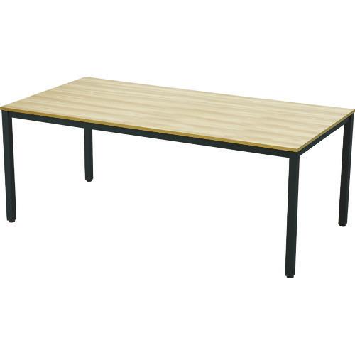 ■TRUSCO ミーティングテーブル W1800xD900 ナチュラル天板X黒脚〔品番:MT1890NA-BK〕[TR-1245798]【個人宅配送不可】