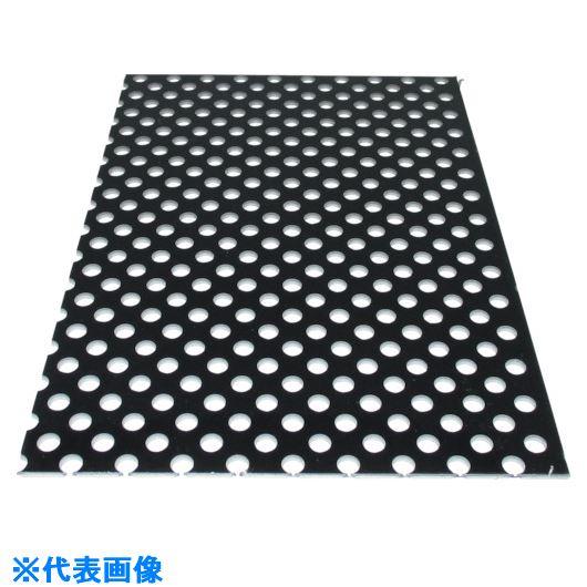 ■アルインコ アルミ複合板パンチ 3X2000X1000 ブラック〔品番:CG120P-11〕[TR-1246756]【大型・重量物・個人宅配送不可】