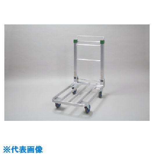 ■昭和 SD型アルミ製ブレーキ付き台車〔品番:SD-10〕[TR-1252336]【大型・重量物・個人宅配送不可】