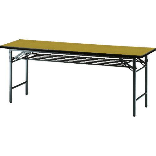■TRUSCO 会議用テーブル棚付折り畳み式1500×600×700チ チーク〔品番:TS-1560〕[TR-1259026 ]【送料別途お見積り】