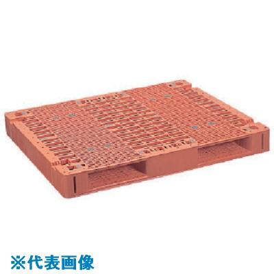 ■NPC プラスチックパレットFS1210S 両面2方差し ブルー  〔品番:FS-1210S-B〕[TR-1259708]【大型・重量物・送料別途お見積り】