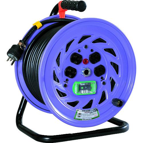 ■日動 電工ドラム 単相200Vドラム アース漏電しゃ断器付 30M  〔品番:NF-EB230-15A〕[TR-1259814]