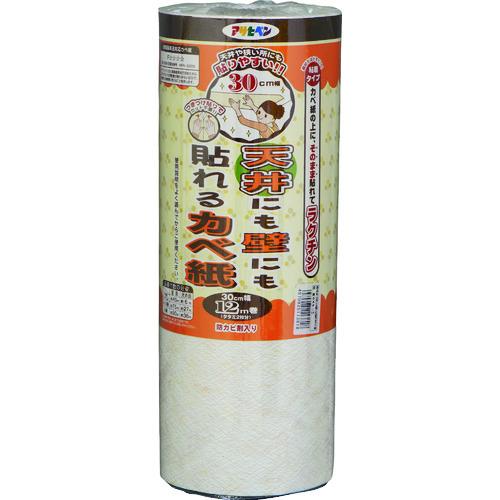 ■アサヒペン 天井にも壁にも貼れるカベ紙 30CMX12M GAP-11《4本入》〔品番:113818〕[TR-1268951×4]