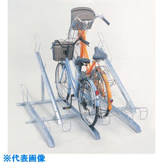 ■ダイケン 自転車ラック サイクルスタンド 5台収容 左低位〔品番:KS-F285A〕[TR-1270681]【個人宅配送不可】