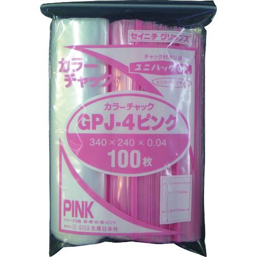 ■セイニチ ユニパック GP J‐4カラーチャック ピンク〔品番:GP〕[TR-1273922]