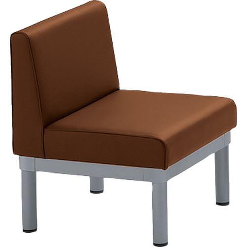 ■ミズノ 簡易応接椅子W560×D560×H695×SH380 ブラウン〔品番:MWC-100-BR〕[TR-1275529]【個人宅配送不可】