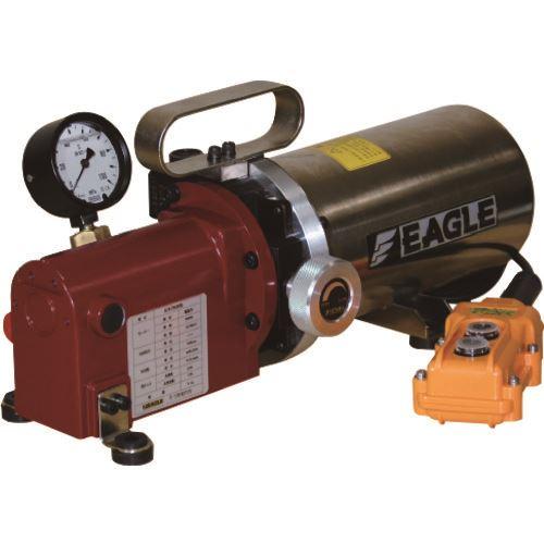 ■イーグル リリーフバルブタイプ単動電動油圧ポンプ 1連 有効油量1.6L  〔品番:KHB-7020S〕外直送[TR-1279086]