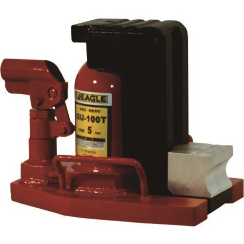 激安直営店 〔品番:GU-100T〕[TR-1279090]:ファーストFACTORY ?イーグル 低床・アタッチメントタイプ多段式爪つきジャッキ 爪能力5T  -DIY・工具
