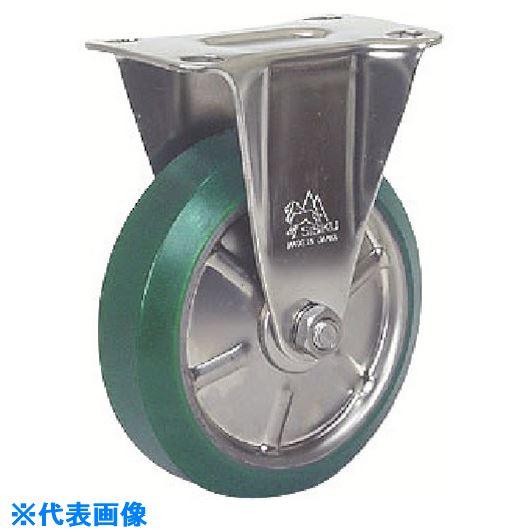 ■シシク ステンレスキャスター 固定 150径 ウレタン車輪  〔品番:SUNK-150-SUW〕[TR-1287344]